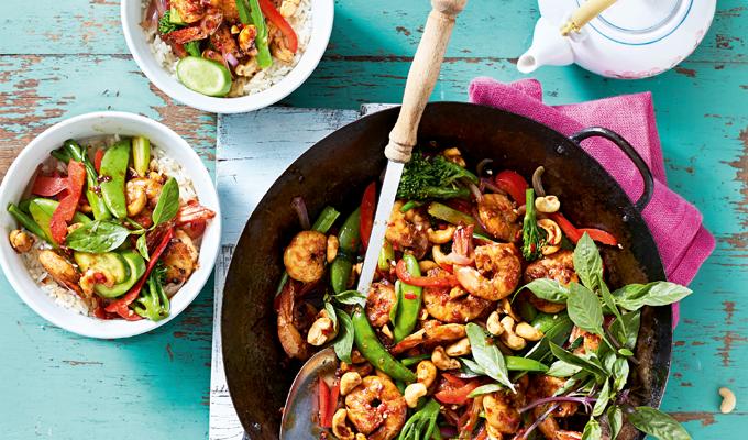 Kerniges Garnelengemüse schnelle Küche EAT CLUB