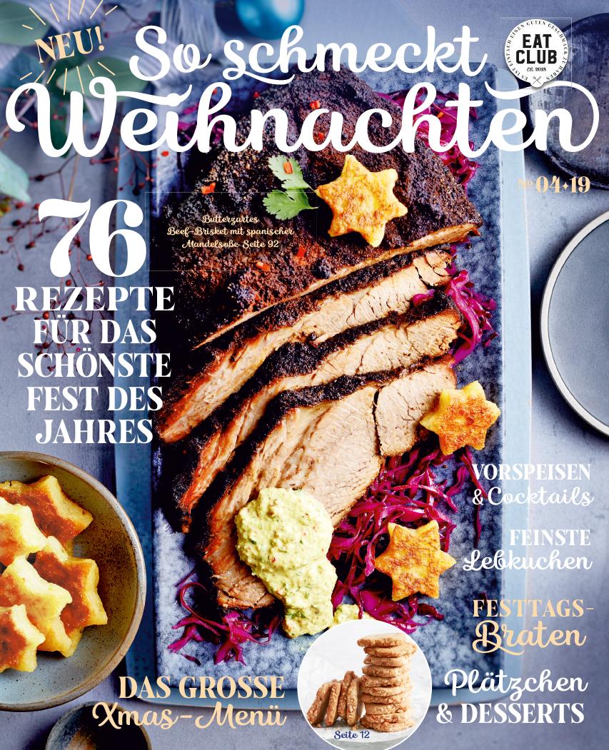 """Cover """"So schmeckt Weihnachten"""" 2019 EAT CLUB"""